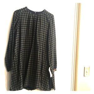 NWT Zara Basic Romper Dress Long Sleeves Sz Medium